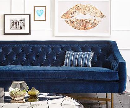 Gutsy Glam Sofa