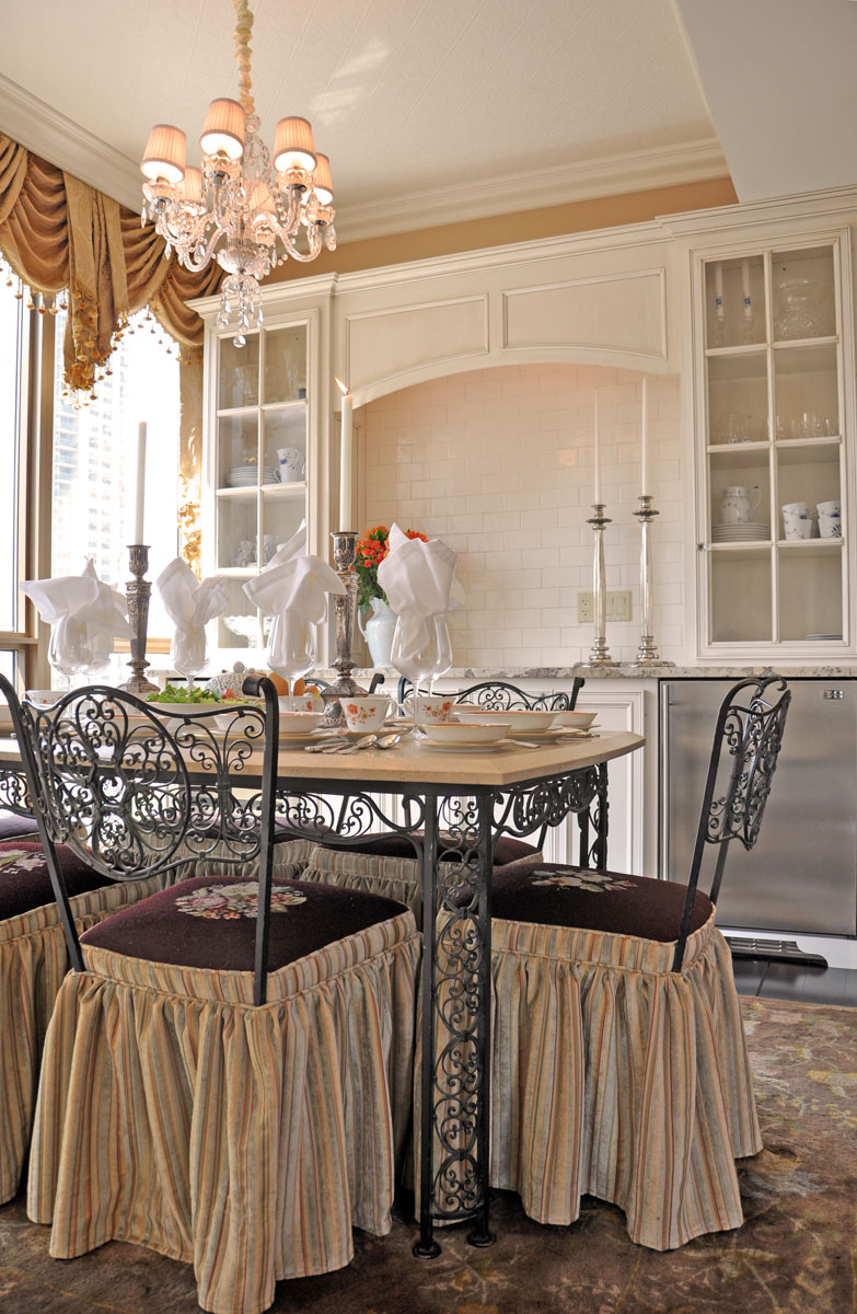 Luxury Home in the Sky Dining Room by Talie Jane Interiors