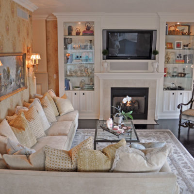 Luxury Home in the Sky Living Room by Talie Jane Interiors