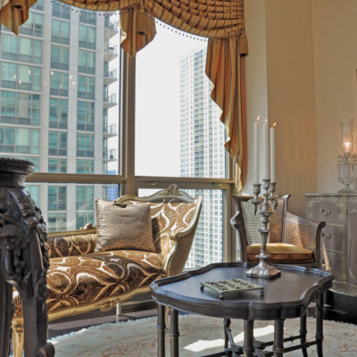 Luxury Home in the Sky Sun Room by Talie Jane Interiors