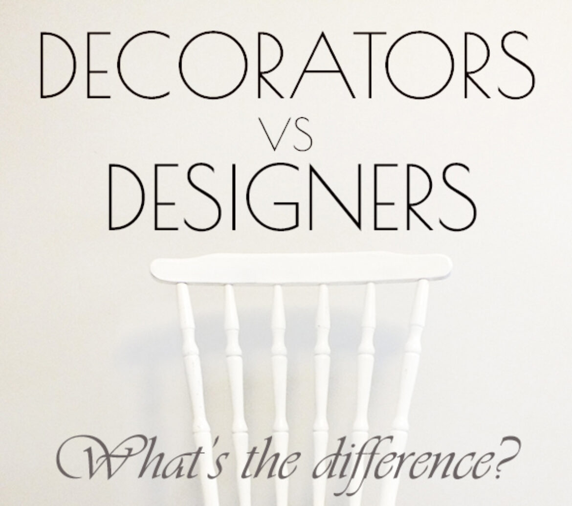 Differences between interior designer and interior decorator