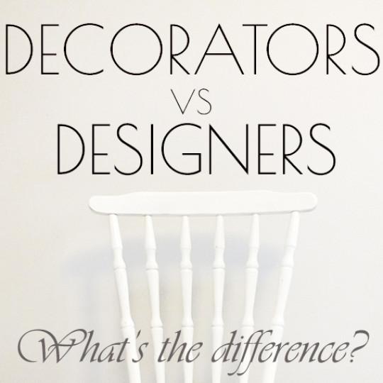 differences between interior designer and interior decorator