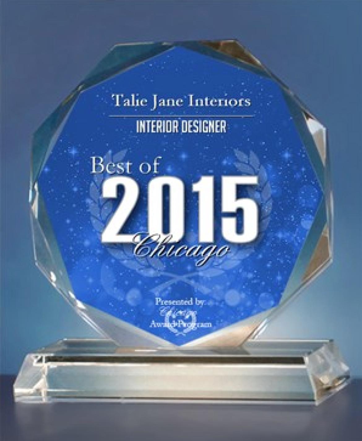 2015 Best Of Chicago Award Interior Design Lake Tahoe