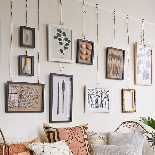 DYI easy way to hang wall art
