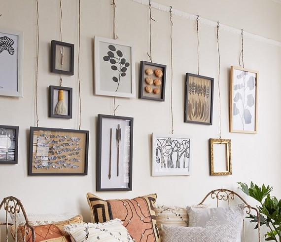 DYI easy way to hang wall art