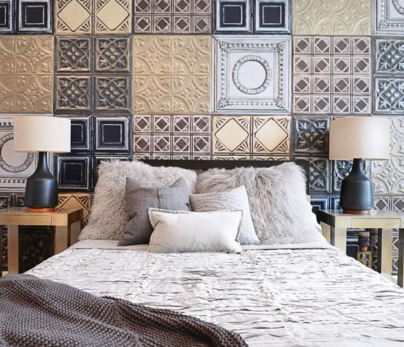 decorate bedroom, decorative tiles, Bedroom Accent Wall, Wall Treatment
