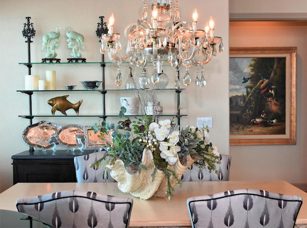 Dining Room Florida Oceanfront Penthouse, Longboat Key FL, Talie Jane Interiors