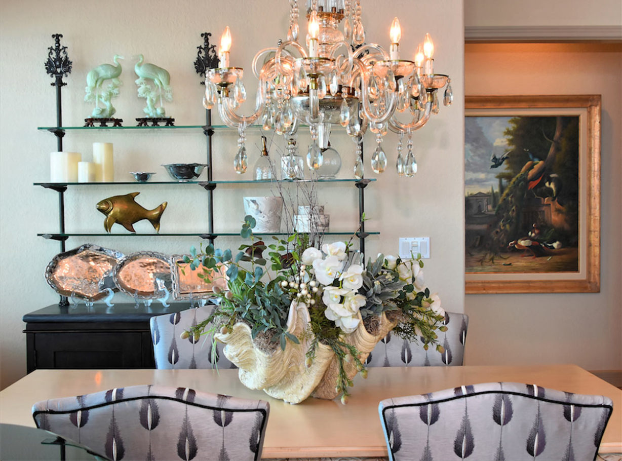 Ocean Front Dining Room by Talie Jane Interiors