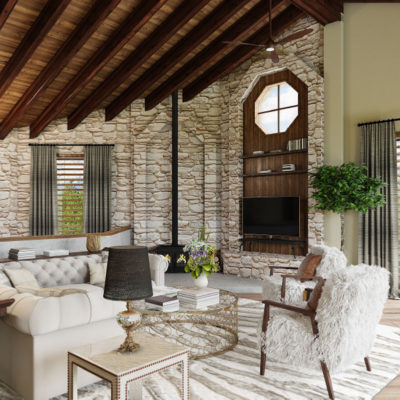 Mountain Modern Home Living Room by Talie Jane Interiors