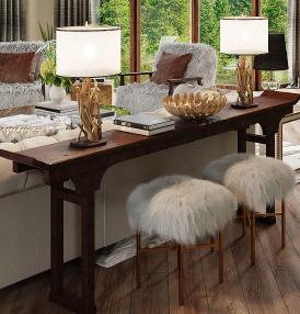 faux fur bar stools