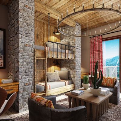 Ski Resort Bedroom by Talie Jane Interiors