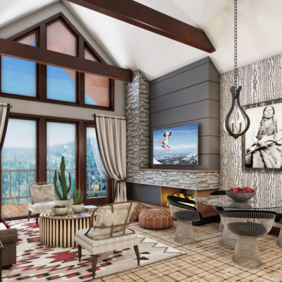 Ski Resort Living Room by Talie Jane Interiors