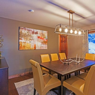 Tahoe Mountain Retreat Dining Room by Talie Jane Interiors