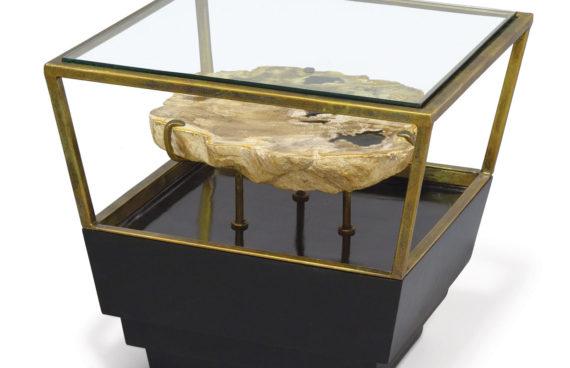 Apollo Petrified Wood Side Table