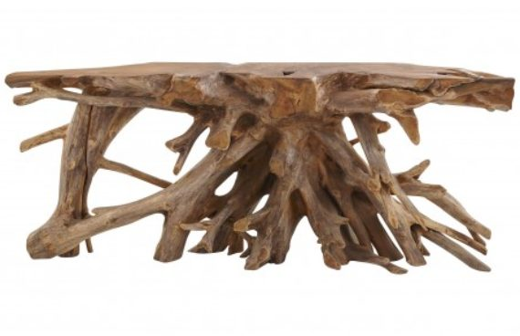 Teak Root Table Console