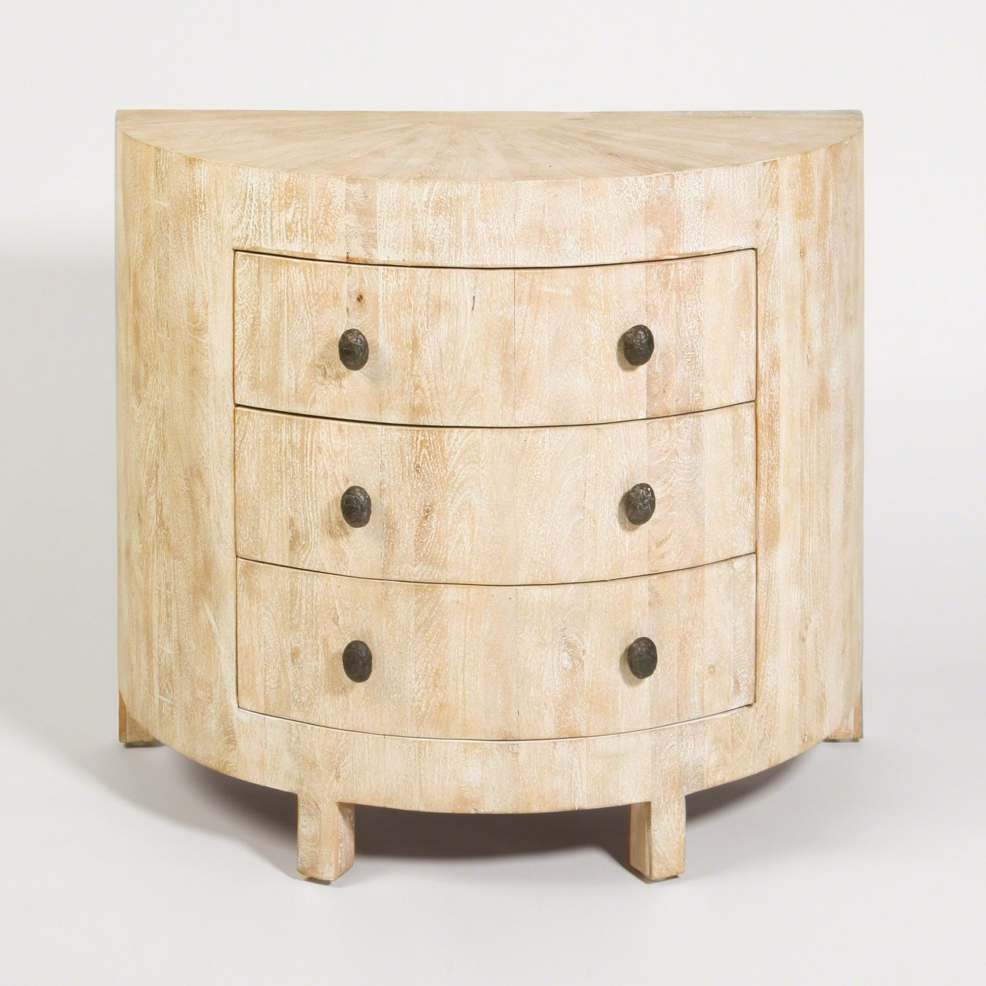 "Driftwood Demi Lune Chest (2 Available) - 40""W x 36""H x 20""D $1,200 each (plus shipping and tax)"