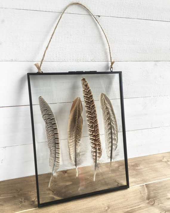Hanging Feather Frames (Set of 7) - Various Sizes $325 (plus shipping and tax)