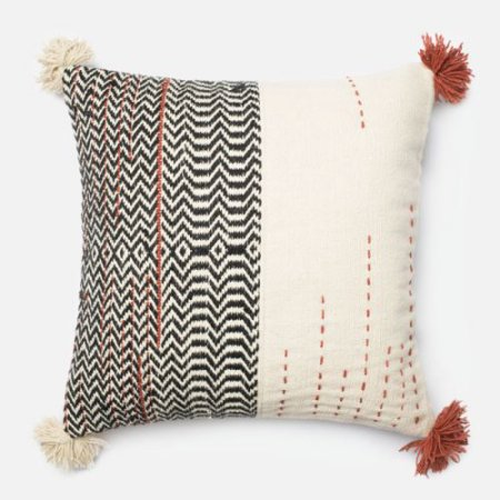 "Ivory/Black/Rust Pillow  - 22"" Square, with Insert $60 (plus shipping and tax)"