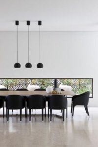using black in interior design