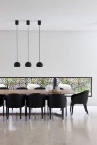 using black in interior design