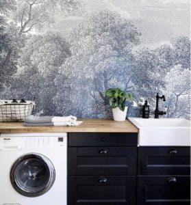 Interior design with wallpaper