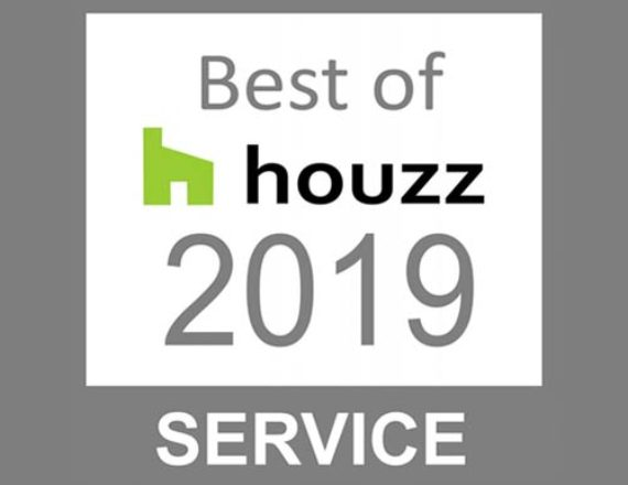 Talie Jane wins Best of Service Award from Houzz - 2019