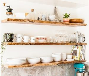 Floating Shelves in the kitchen - Talie Jane Interiors