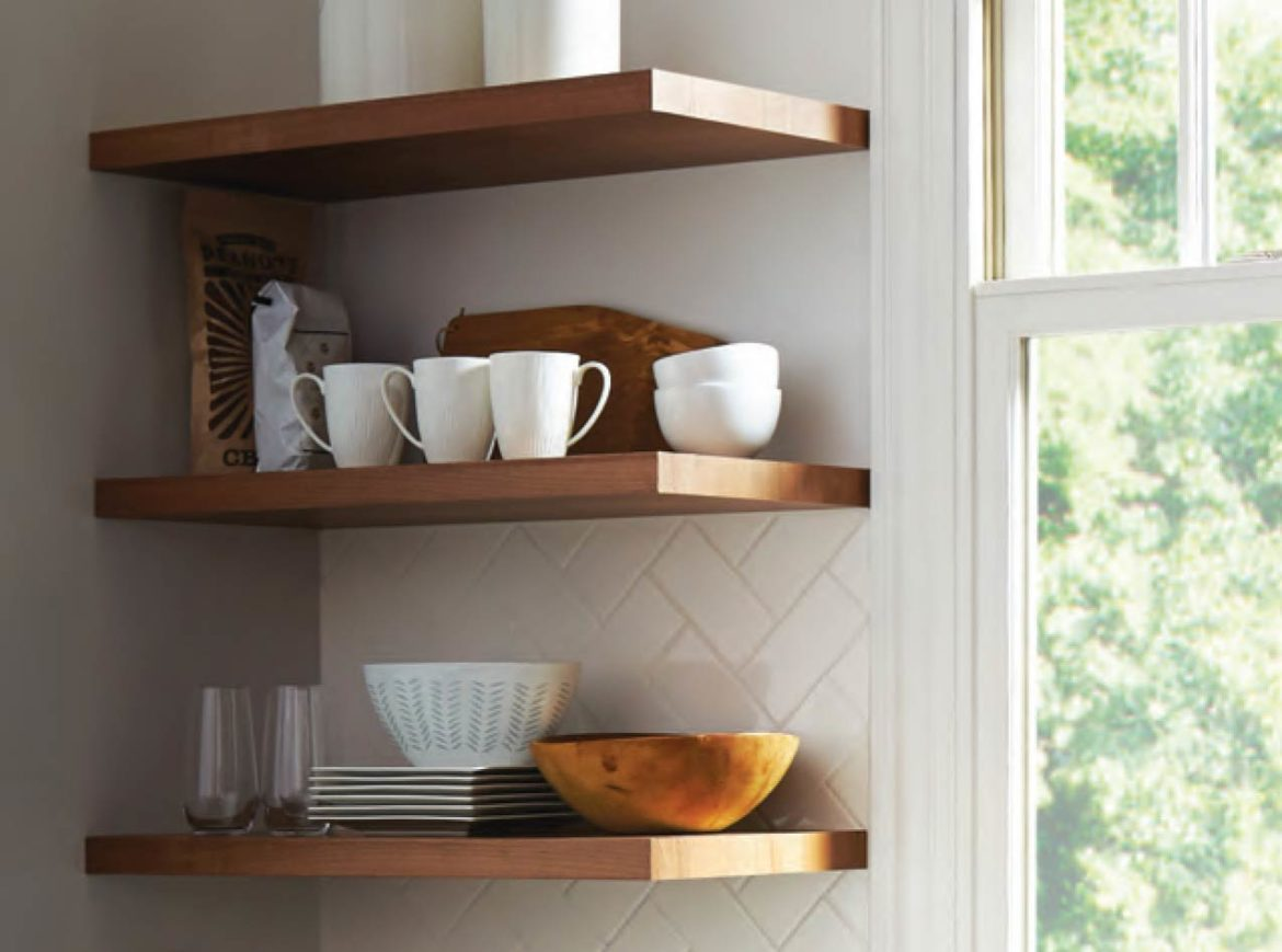 Floating Shelves - Talie Jane Interiors - South Lake Taho