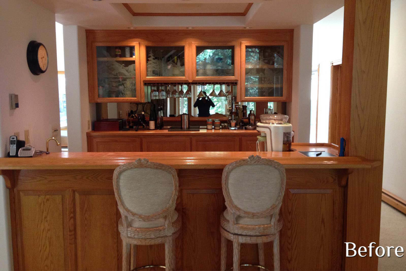 Home Bar Before - Talie Jane Interiors
