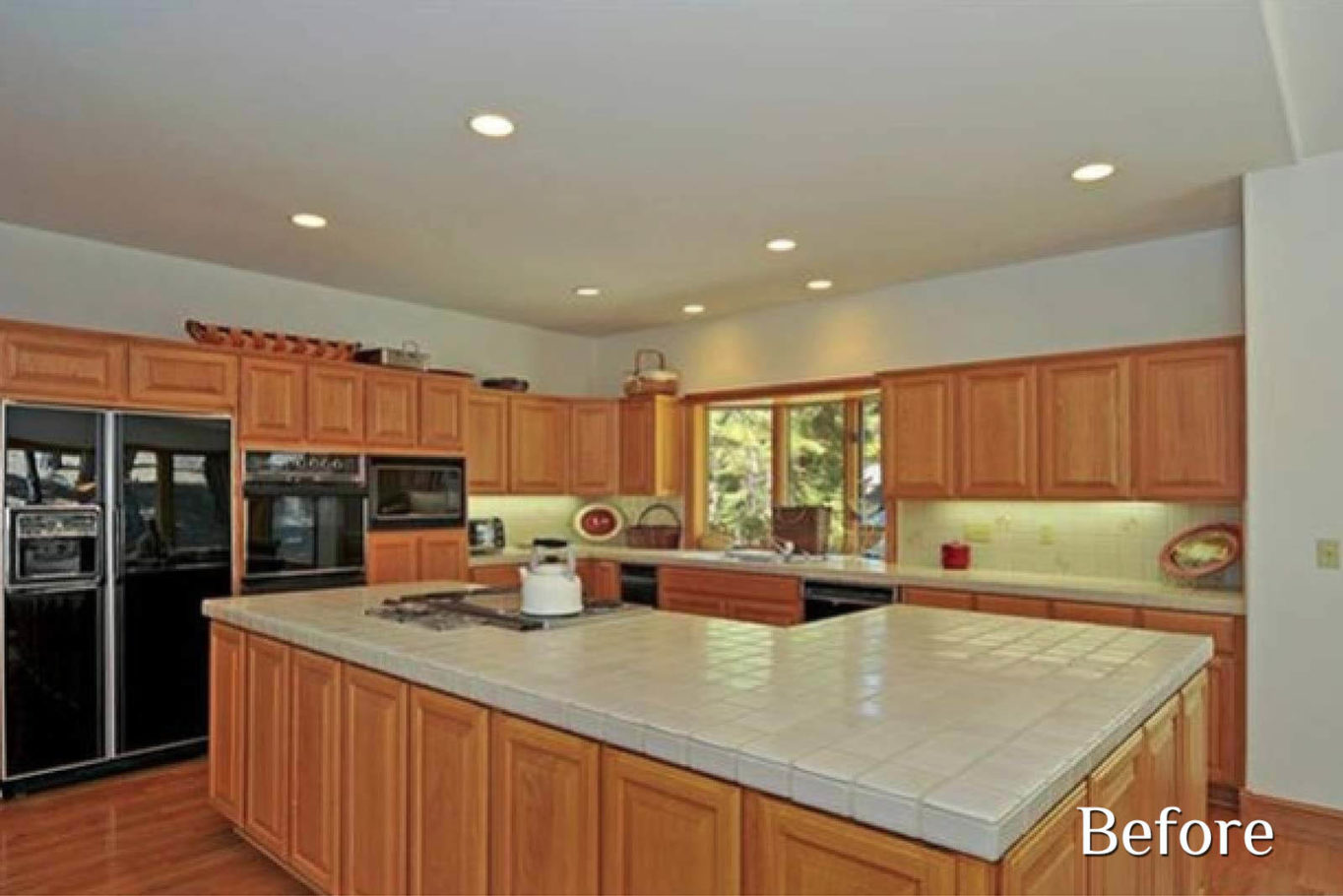 Kitchen before remodel - Talie Jane Interiors