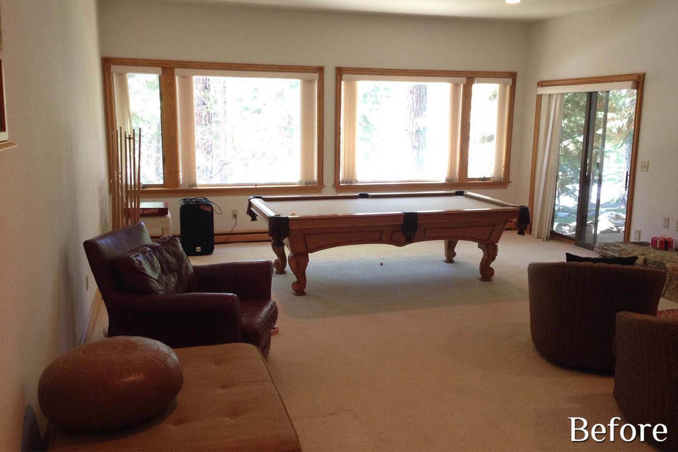 Game Room before remodel - Talie Jane Interiors