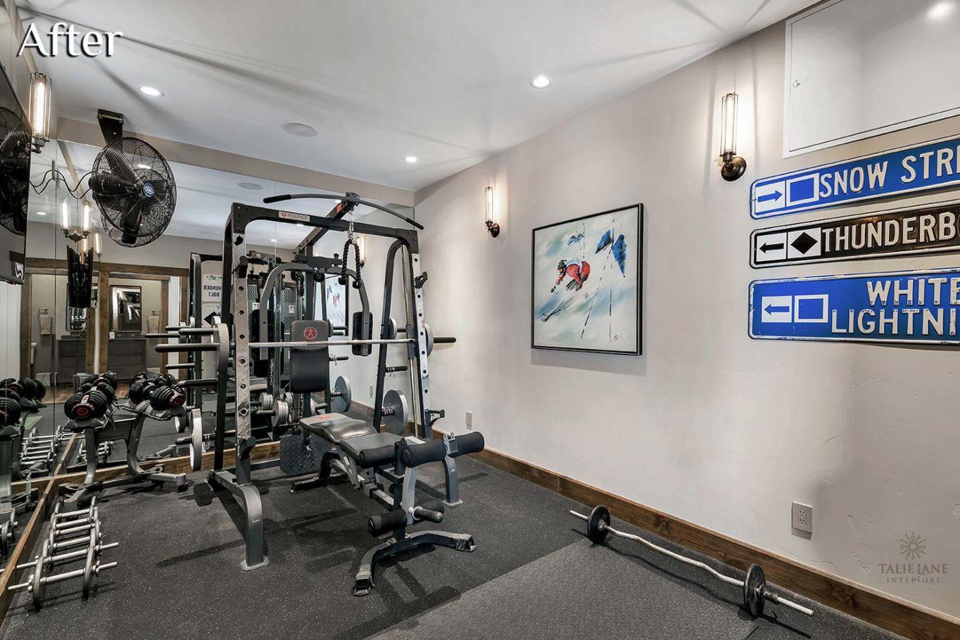 Exercise Room interior design - Talie Jane Interiors