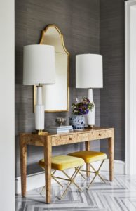 Grasscloth Wallpaper is hot - Talie Jane Interiors