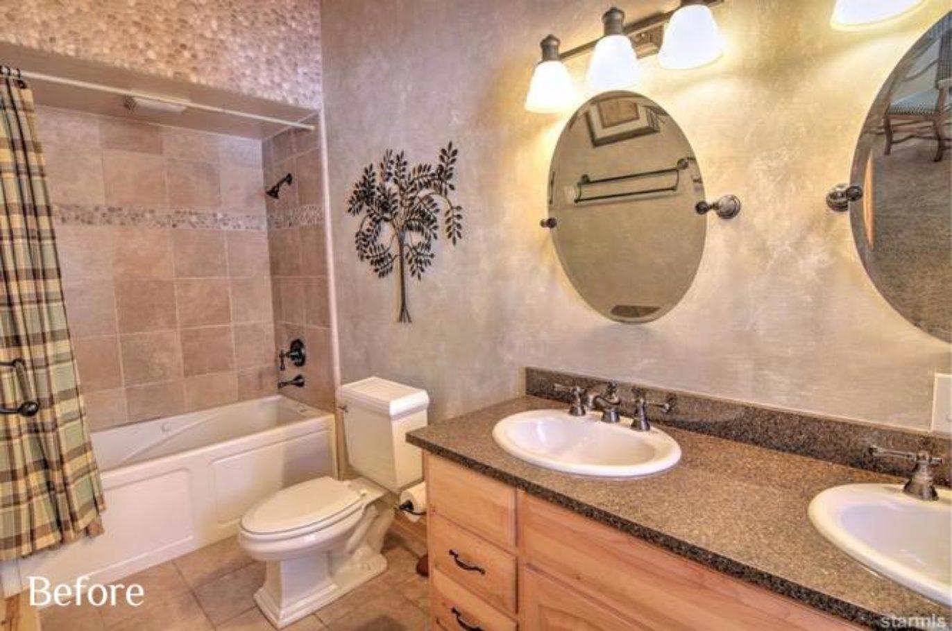 Bathroom before Talie Jane Interiors