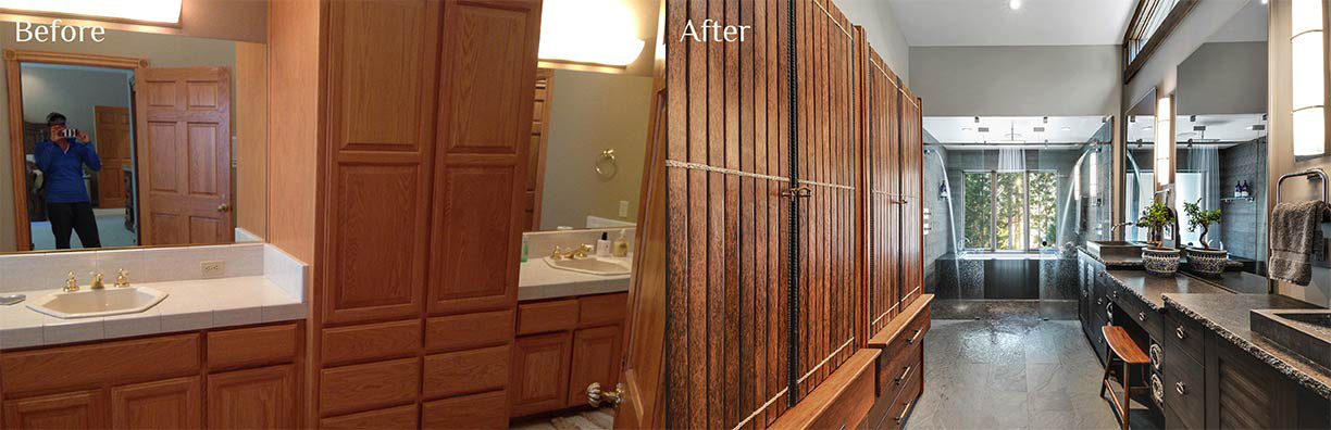 Glenbrook Master Bath before and after - Talie Jane Interiors