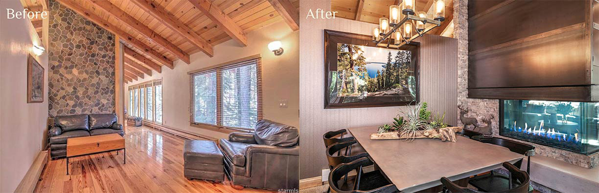 Wilde Dining Room before and after - Talie Jane Interiors