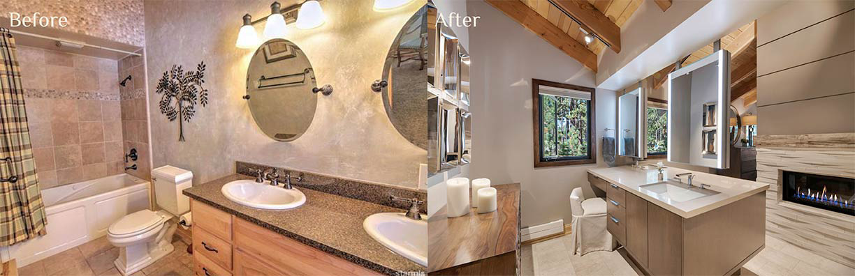 Wilde Master Bath before and after - Talie Jane Interiors