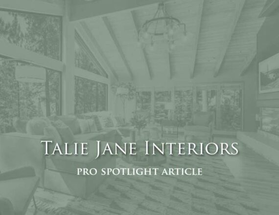 Talie Jane Interiors - Houzz Pro Spotlight Article - 3 Keys to Creating a Full-Time Mountain Paradise